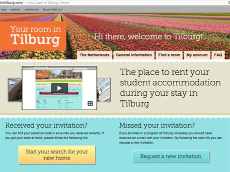 De startpagina van Yourroomintilburg.com