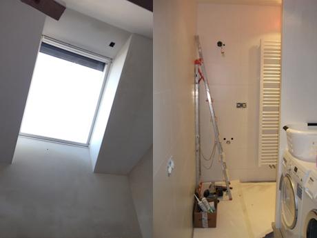 Voorburg: Het velux-raam in de nok voorziet het trappenhuis van licht