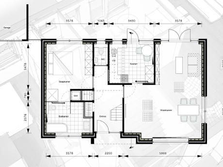 De nieuwe plattegrond van de levensloopbestendige bungalow in Ugchelen