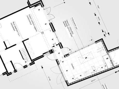 De nieuwe keuken na uitbreiding van de woning in Baarn