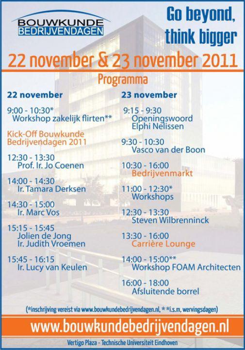 Lezing & workshop Bouwkunde Bedrijvendagen